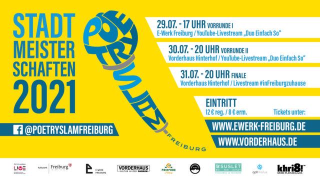 Freiburger Stadtmeisterschaften 2021 im Poetry Slam